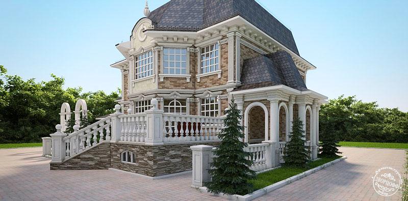 Декор домов камнем фасад