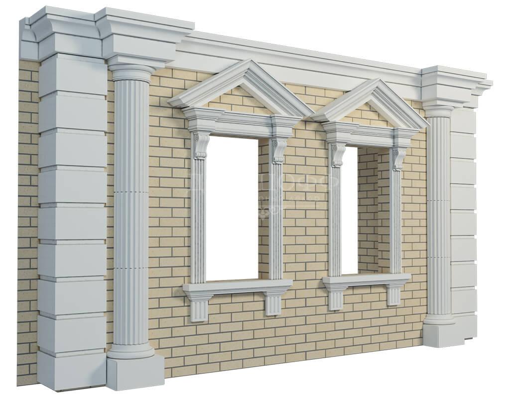 Как сделать фасад дома из пенопласта 520